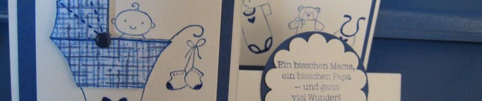 Stampin up, Fürs Baby, Treppenkarte